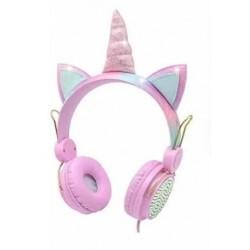 Audífonos Unicornio  rosado